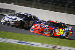Jeff Gordon races with Kasey Kahne