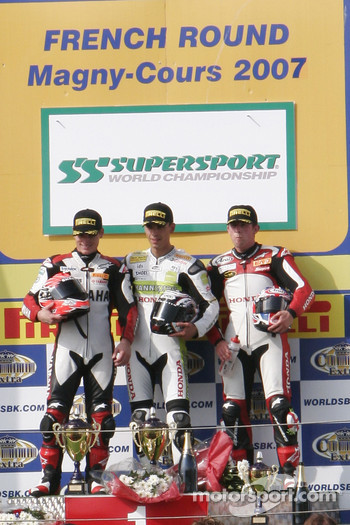 Supersport race podium