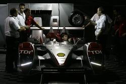 Audi Sport North America paddock area