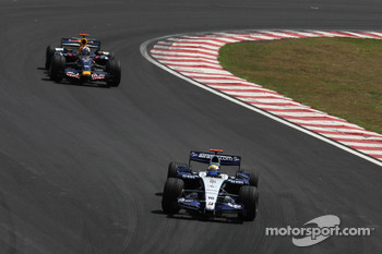 Nico Rosberg, WilliamsF1 Team, David Coulthard, Red Bull Racing
