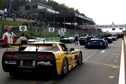 Vacating the track; Selleslagh Racing Team Corvette C5R: Tom Cloet, Maxime Soulet