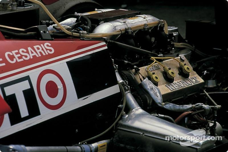 Back of De Cesaris' Ligier Renault