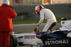 Robert Kubica,  BMW Sauber F1 Team, stops on the circuit