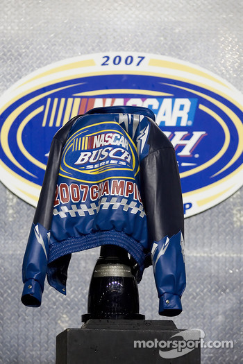 Championship victory lane: the Busch Champions Jacket