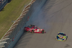Dale Earnhardt Jr. crashes in front of Kyle Busch