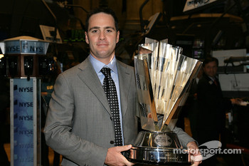 Jimmie Johnson the 2007 NASCAR NEXTEL Cup Series Champion tours the  the New York Stock Exchange