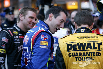 Clint Bowyer, Kyle Busch and Matt Kenseth