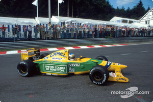 Spa one year later, first victory for Schumacher for Benetton