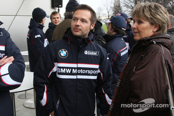 Andy Priaulx, BMW Team UK, and the wife of Dr. Mario Theissen, BMW Sauber F1 Team, BMW Motorsport Director