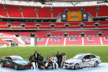 Colin McRae, Fredrik Johnsson, David Coulthard, Andy Priaulx, Steve Welch (Head Groundsman), Jonathan Gregory and Michle Mouton