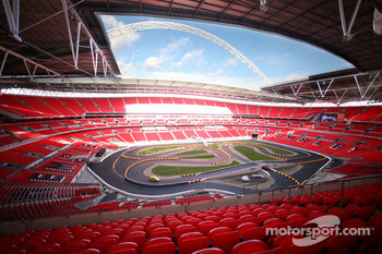 Overall view inside the Wembley Stadium