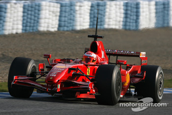 Michael Schumacher, Test Driver, Scuderia Ferrari, on Slick tyres