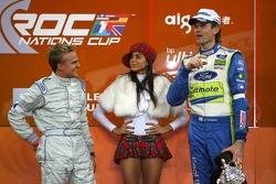Podium: second place Marcus Gronholm and Heikki Kovalainen