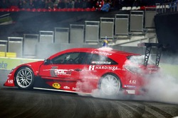Final heat 3: Race of Champions winner Mattias Ekström celebrates
