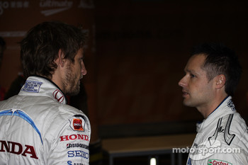 Jensen Button and Andy Priaulx