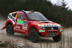 Repsol Mitsubishi Ralliart Team shakedown test: Luc Alphand and Gilles Picard