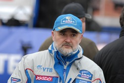 Kamaz-Master ceremonial start on the Red Square in Moscow: Vladimir Samoylov