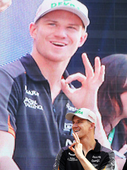 Nico Hulkenberg, Sahara Force India F1 on the fans stage