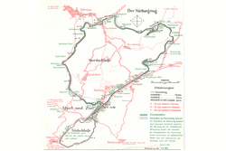 Map of the Nürburgring in 1936