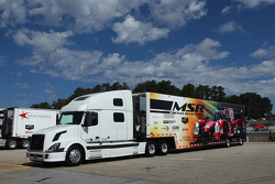 Michael Shank Racing transporter