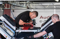 Audi mechanics at work