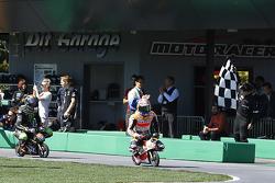 Dani Pedrosa, Repsol Honda Team wins the mini bike challenge