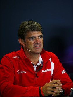 Graeme Lowdon, Manor F1 Team Chief Executive Officer in the FIA Press Conference