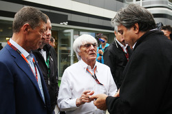 (L to R): Dmitry Kozak, Russian Deputy Prime Minister with Bernie Ecclestone, and Pasquale Lattuneddu, of the FOM