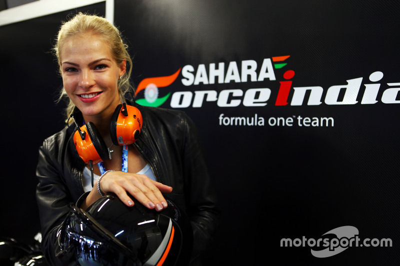 Darya Klishina, la atleta de salto de longitud con el Sahara Force India F1 Team