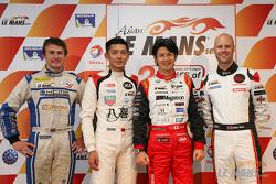 Class polesitters: overall Shinji Nakano, LMP3 Ho-Pin Tung, GT Rob Bell, GTam James Munro