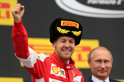 Sebastian Vettel, Scuderia Ferrari and Vladimir Putin, Russian President