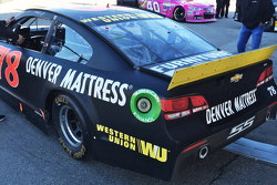 Western Union branding on the Furniture Row Racing Chevrolet of Martin Truex Jr.