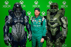 Dale Earnhardt Jr., Hendrick Motorsports Chevrolet with Halo 5 video game characters
