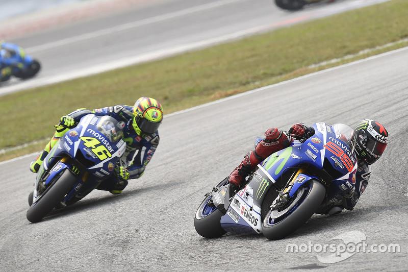 Jorge Lorenzo, Yamaha Factory Racing and Valentino Rossi, Yamaha Factory Racing