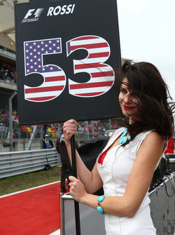 Grid girl for Alexander Rossi, Manor Marussia F1 Team