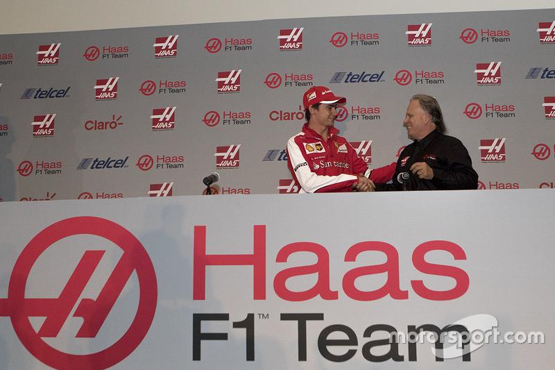 Esteban Gutiérrez y Gene  Haas, Presentación piloto F1 Equipo Haas
