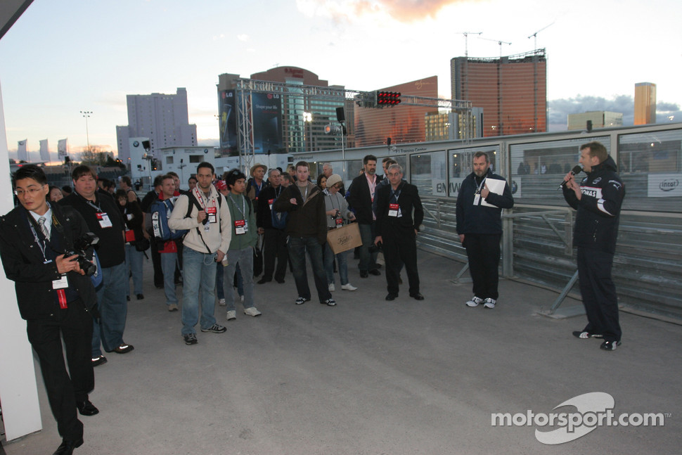 BMW Sauber F1 Team Pit Lane Park Media sneak preview
