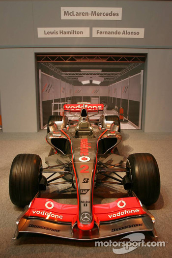 Pit lane display, McLaren Mercedes