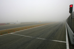 Track close because of fog