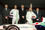 Nick Fry, Honda Racing F1 Team, Chief Executive Officer, Jenson Button, Honda Racing F1 Team, Ross Brawn Team Principal, Honda Racing F1 Team, Rubens Barrichello, Honda Racing F1 Team, Yashurio Wada, Honda Racing Development Ltd, President