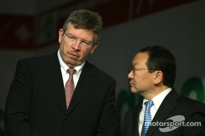 Ross Brawn Team Principal, Honda Racing F1 Team, Yashurio Wada, Honda Racing Development Ltd, President
