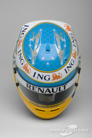 Helmet, Fernando Alonso, Renault F1 Team