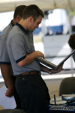 Rocketsports Racing team members at work
