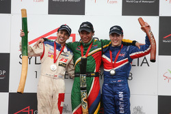 Neel Jani, driver of A1 Team Switzerland, Adrian Zaugg, driver of A1 Team South Africa and Robbie Kerr, driver of A1 Team Great Britain