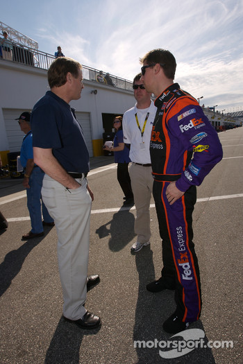 Denny Hamlin and Rusty Wallace