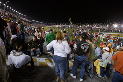 Fans enjoy the trioval