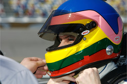 Jacques Villeneuve after his qualifying run
