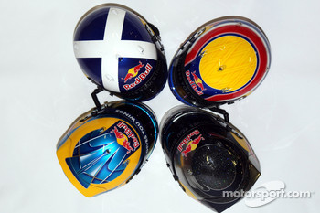 Red Bull Racing and Toro Rosso drivers helmets