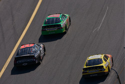 Kyle Busch leads Tony Stewart and Martin Truex Jr.
