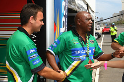 Wesleigh Orr, driver of A1 Team South Africa and Tokyo Sexwale, Seat Holder A1 Team South Africa